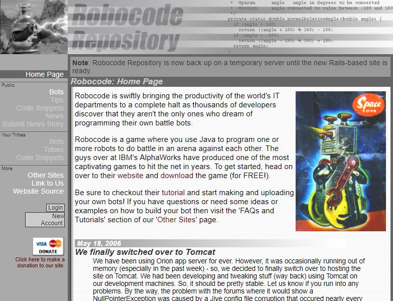 Robocode Repository - RoboWiki